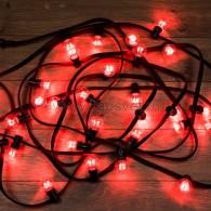 331-322 LED Galaxy Bulb String 10м, черный КАУЧУК, 30 ламп*6 LED КРАСНЫЕ