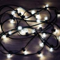 331-325 LED Galaxy Bulb String 10м, черный КАУЧУК, 30 ламп*6 LED БЕЛЫЕ