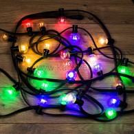 331-329 LED Galaxy Bulb String 10м, черный КАУЧУК, 30 ламп*6 LED МУЛЬТИ