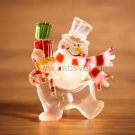"""501-022 """"Снеговик с подарком"""""""