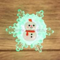 "501-038 ""Снеговик на снежинке"" 5,5*5,5 см"