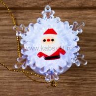 "501-039 ""Дед мороз на снежинке"" 5,5*5,5 см"