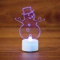 """501-043 """"Снеговик в шляпе 2D"""""""