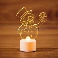 """501-054 """"Снеговик с подарком 2D"""""""