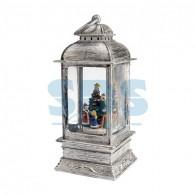 501-065 Декоративный фонарь с эффектом снегопада и подсветкой «Рождество», белый