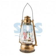501-066 Декоративный фонарь с эффектом снегопада и подсветкой «Санта Клаус», теплый белый