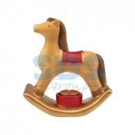 501-071 Керамический подсвечник «Лошадка» 18.2х7.2х19.3 см