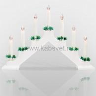 501-081 Новогодняя горка 7 свечек, цвет корпуса: Белый, цвет свечения: ТЕПЛЫЙ БЕЛЫЙ