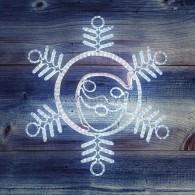 """501-339 Фигура """"Снежинка с Дедом Морозом"""" 107*95см"""