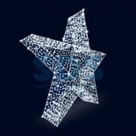501-429 Декоративная декорация 3D Звезда 500 см ( на заказ)