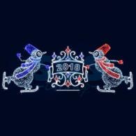 501-430 Декоративная декорация Снеговики на лыжах 250 см( на заказ)