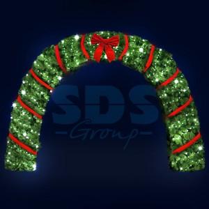 Декоративная арка Рождество 500 см (цвет на выбор) 501-469 (на заказ)