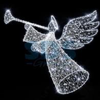501-471 Декоративная 3D фигура Ангел объемный с трубой 170 см ( на заказ)