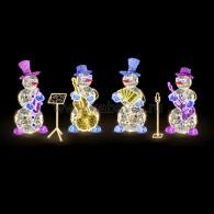 501-506 Декоративная 3D фигура Снеговик с гитарой и микрофоном 237 см ( на заказ)