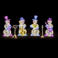 501-507 Декоративная 3D фигура Снеговик с аккордеоном 257 см ( на заказ)