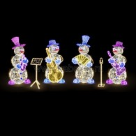 501-508 Декоративная 3D фигура Снеговик с контрабасом и нотами 237 см ( на заказ)