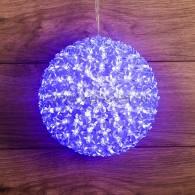 501-607 Шар светодиодный, диаметр 20 см, цвет синий