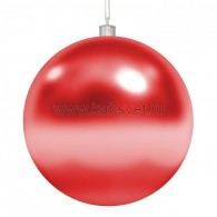 """502-002 Елочная фигура """"Шар"""" глянцевый, 20 см, цвет красный"""