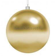 502-021 Елочная фигура «Шар» глянцевый 15 см, цвет золотой
