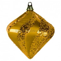 """502-206 Елочная фигура """"Алмаз"""", 20 см, цвет золотой"""