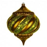 """502-210 Елочная фигура """"Лампа"""", 25 см, цвет золотой"""