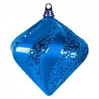 "502-213 Елочная фигура ""Алмаз"", 25 см, цвет синий"
