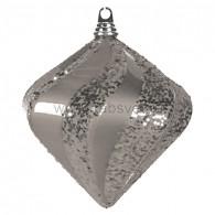 """502-216 Елочная фигура """"Алмаз"""", 25 см, цвет серебряный"""
