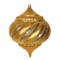 """502-221 Елочная фигура """"Лампа"""", 30 см, цвет золотой"""