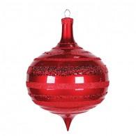 """502-222 Елочная фигура """"Юла"""", 30 см, цвет красный"""