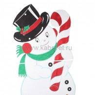 502-394 Снеговик в шляпе 175*90 см