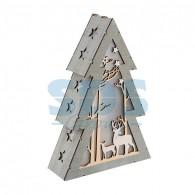 504-025 Деревянная фигурка с подсветкой «Елочка» 20х6,5х29 см