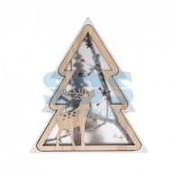 504-029 Деревянная фигурка с подсветкой «Елочка» 16х2х18 см