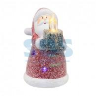 505-008 Керамическая фигурка «Дед Мороз со свечкой» 7х7х12 см