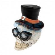 505-021 Керамическая фигурка «Череп в шляпе» 13.2х10.3х14.3 см