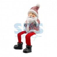 505-023 Керамическая фигурка «Дед Мороз» с подвесными ножками 6.3х5.4х10.4 см