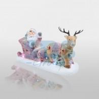 505-029 Керамическая фигурка «Дед Мороз в санях» 30.5х12.2х17.2 см