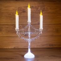 "513-034 Фигура на подставке ""Подсвечник со свечками"" 25 см"