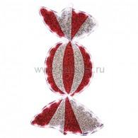 """514-051 Фигура """"Карамель"""" бархатная, размеры 60*30 см (45 БЕЛЫХ светодиодов)"""