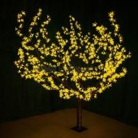 """531-101 Светодиодное дерево """"Сакура"""", H=1.5м, D=1.8м, 864 диодов, ЖЁЛТЫЙ"""