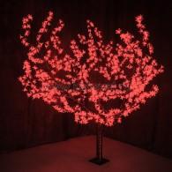 """531-102 Светодиодное дерево """"Сакура"""", H=1.5м, D=1.8м, 864 диода, КРАСНЫЙ"""