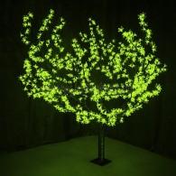 """531-104 Светодиодное дерево """"Сакура"""", H=1,5м, D=1.8м, 864 диода, ЗЕЛЁНЫЙ"""