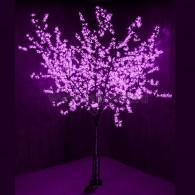 """531-126 Светодиодное дерево """"Сакура"""", H=2,4м, D=2.0м, 1728 диодов, ФИОЛЕТОВЫЙ"""