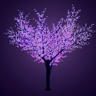 "531-216 Светодиодное дерево ""Сакура"", H=3,6м, D=3.0м, 1728 диодов, ФИОЛЕТОВЫЙ - поставка под заказ"