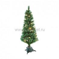 533-216 Новогодняя Ель с шишками 150 см фибро-оптика ТЕПЛЫЙ БЕЛЫЙ цвет