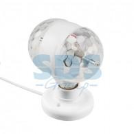 601-250 Диско-лампа Е27 двойная на подставке с цоколем