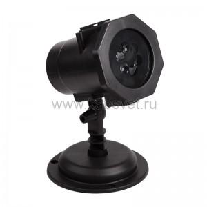 LED проектор, 12 сменных слайдов, цвет RGBW, 12В 601-262
