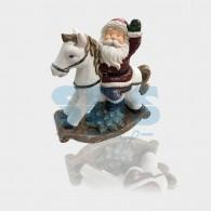 505-012 Керамическая фигурка «Дед Мороз на коне» 35х15х39.8 см