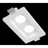 Врезной гипсовый светильник Roden RD-211 120*200 мм MR16