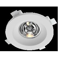 Врезной гипсовый светильник Roden RD-256 ф222 мм AR-111