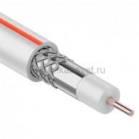 01-2401-2 Кабель коаксиальный PROconnect SAT 50 M, CCS/Al/Al, 75%, 75 Ом, бухта 100 м, белый